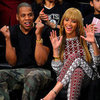 Beyonce New Fringe Pictures With Jay-Z at Basketball Game