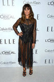 Maybe the sexiest in the bunch, Lea Michele took lace to sultry lengths on this Zimmermann bodysuit and sheer dress.