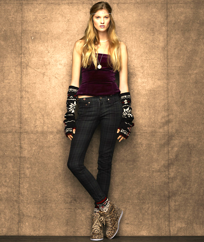 Channel your inner Gwen Stefani in these Rugby tartan skinny jeans ($91, originally $130).
