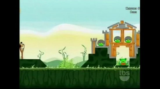Conan O'Brien Plays a Life-Size Version of Angry Birds