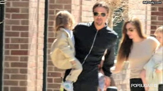 Video: Brad Pitt and Angelina Jolie Bring All the Kids Out in New Orleans!