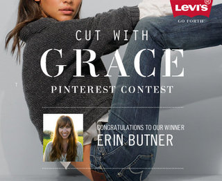 AND THE WINNER OF THE LEVI'S® CUT WITH GRACE PINTEREST CONTEST IS...