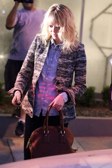 Emma Stone left Salon Benjamin in LA.