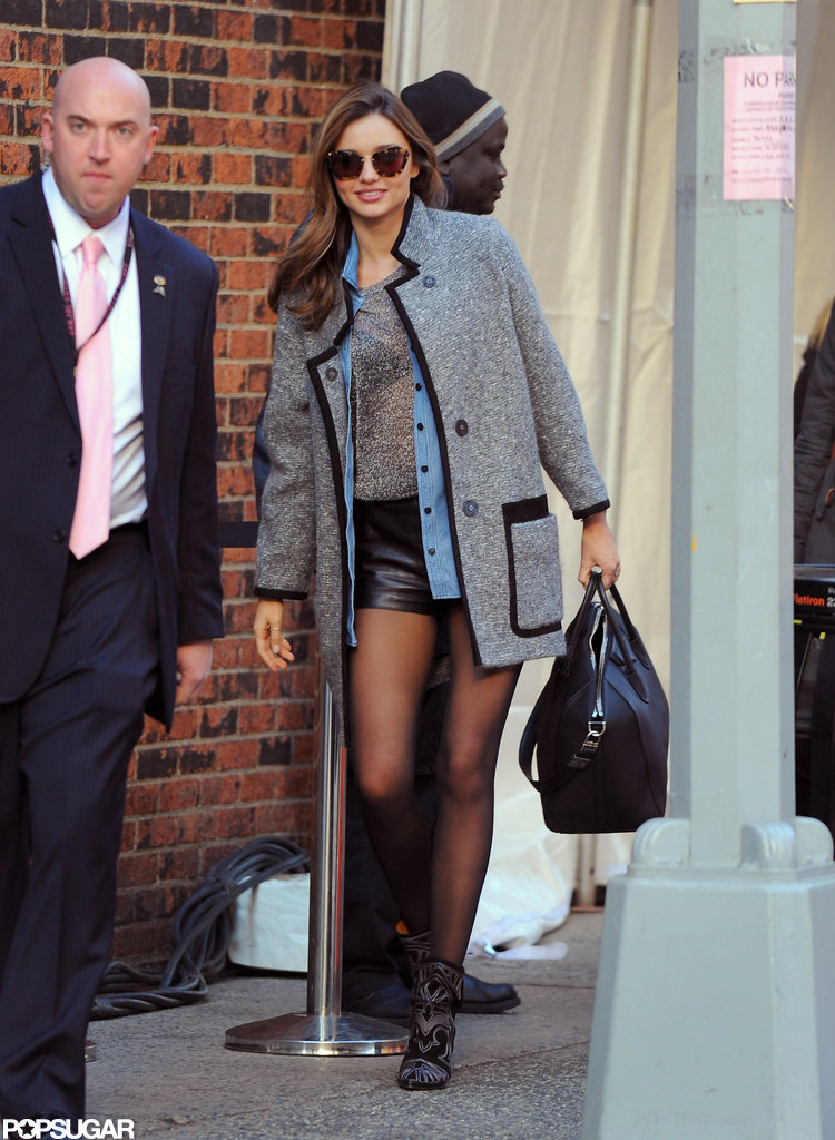 Miranda Kerr headed to Victoria's Secret Fashion Show rehearsals.