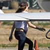 Robert Pattinson and Kristen Stewart Boarding a Private Jet