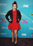 Demi Lovato attended The X Factor finalists party in LA.