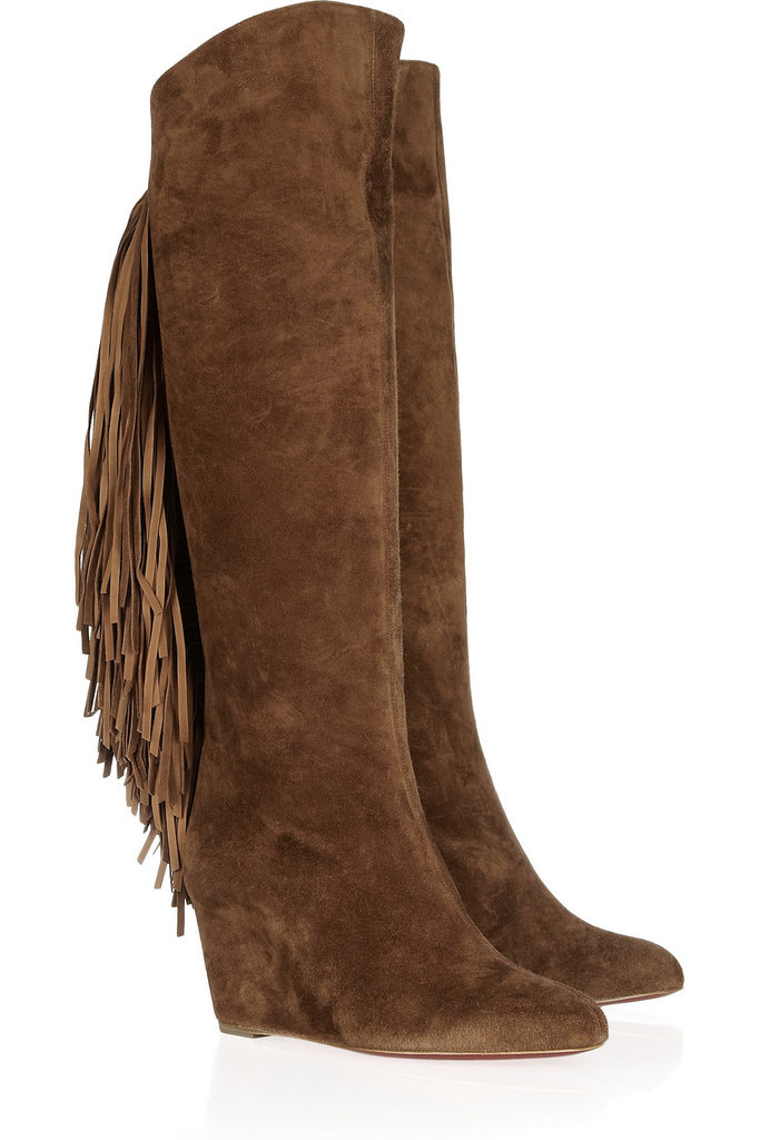 For a luxe investment, these Christian Louboutin Pouliche 70 Fringed Suede Boots ($2,195) will amp up all of your Winter styles, from denim to sweater dresses.