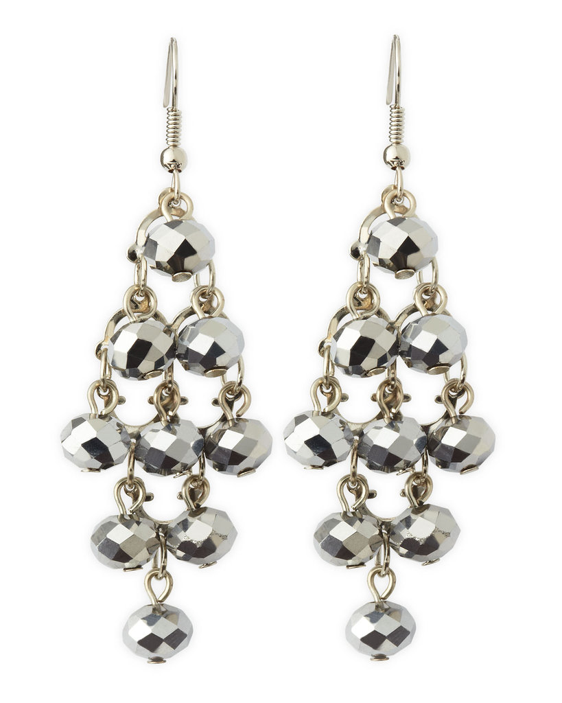 If you could only wear one pair of pretty earrings to your holiday fetes, make it these Greenbeads Hematite Chandelier Earrings ($21).