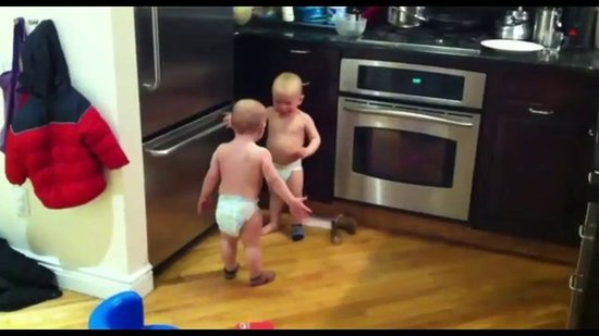Outtake: Baby Boys Share the Hysterical Secret Language of Twins!