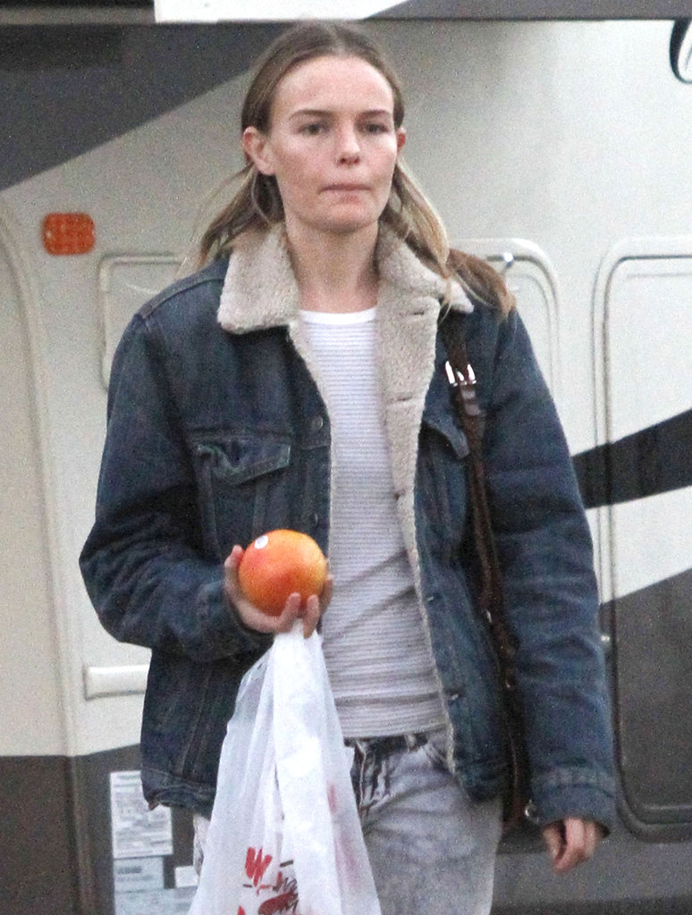 Kate Bosworth wore a lambskin-lined denim jacket.