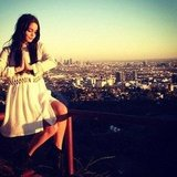 Vanessa Hudgens sat high above Los Angeles. Source: Instagram user vhofficial