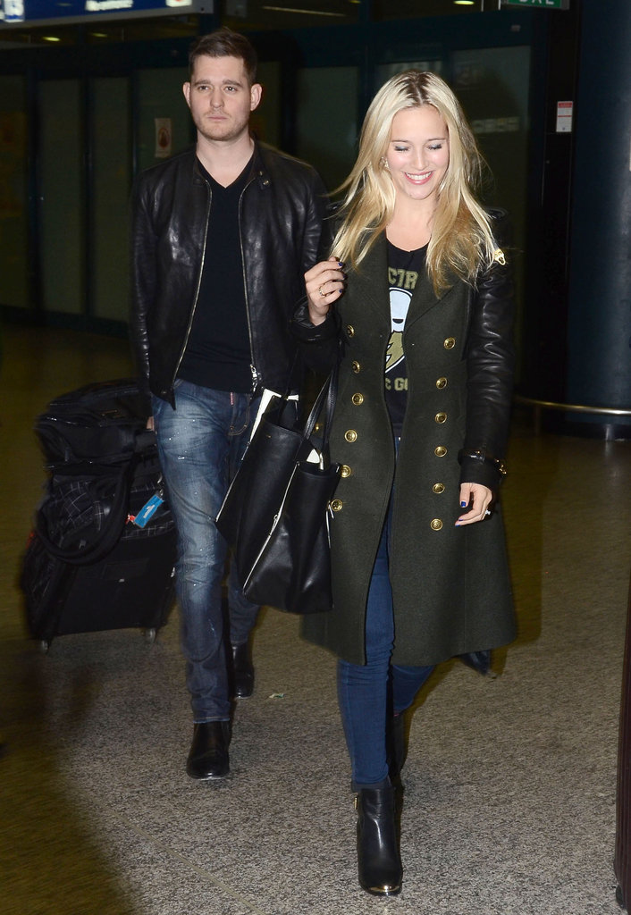 Michael Bublé and Luisana Lopilato were in Rome.