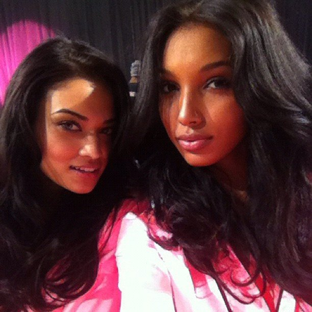 Jasmine Tookes and Shanina Shaik posed for a self portrait. Source: Instagram user jastookes