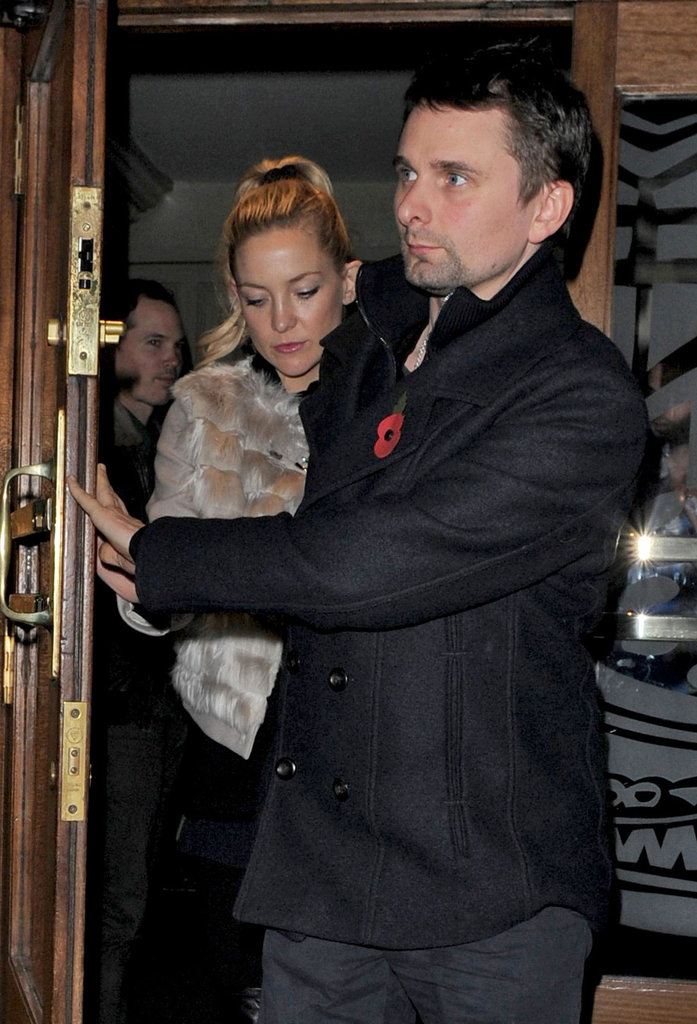 Matt Bellamy spent some time with Kate Hudson in London.