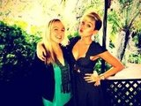 Miley Cyrus hung out at the studio with singer Mozella. Source: Twitter user MileyCyrus