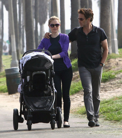 Anna Paquin and Stephen Moyer went for a walk with their twins.