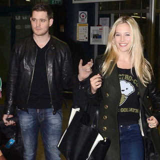 Michael Bublé and His Wife in Rome