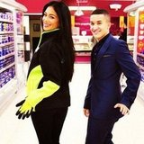 Nicole Scherzinger posed in a British grocery store. Source: Instagram user nicolescherzy
