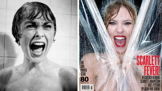 Video: See Scarlett Johansson Re-create Psycho's Shower Scene!