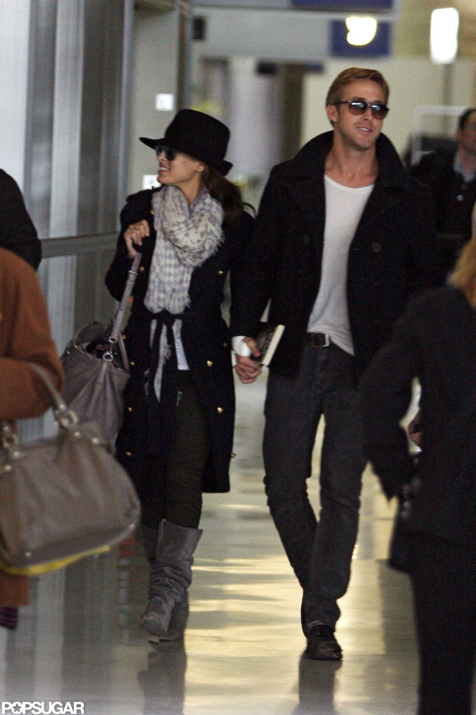 Ryan Gosling and Eva Mendes held hands in Paris in November 2011.