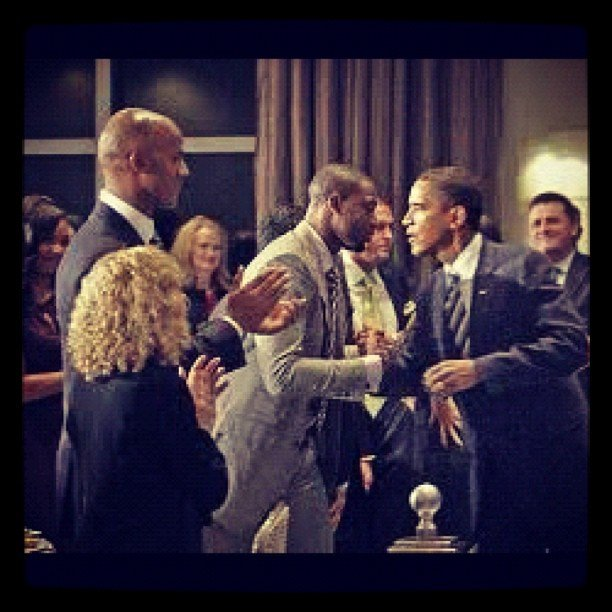 Dwyane Wade shared a look at a special moment of his with the president. Source: Instagram user thewayofwade