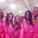 Karlie Kloss posed for a photo with her fellow Angels.