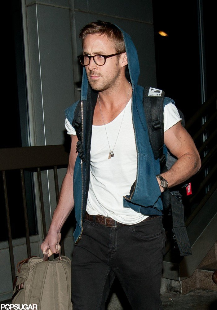Ryan Gosling arrived at LAX off a late-night flight in April.