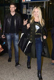 Michael Bublé and his wife, Luisana Lopilato, arrived in Rome together in November 2012.