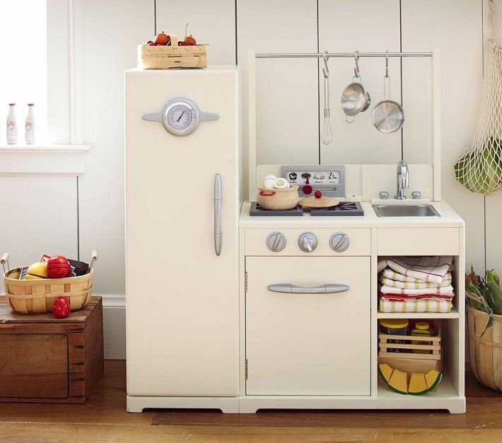 Simply White All-in-1 Retro Kitchen