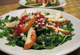 This arugula pomegranate salad has a mix of great flavors going for it — think sweet, spicy, and tart — that all come together into one great medley.
