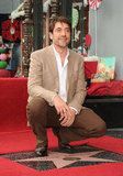 Javier Bardem posed for photos with his new star.