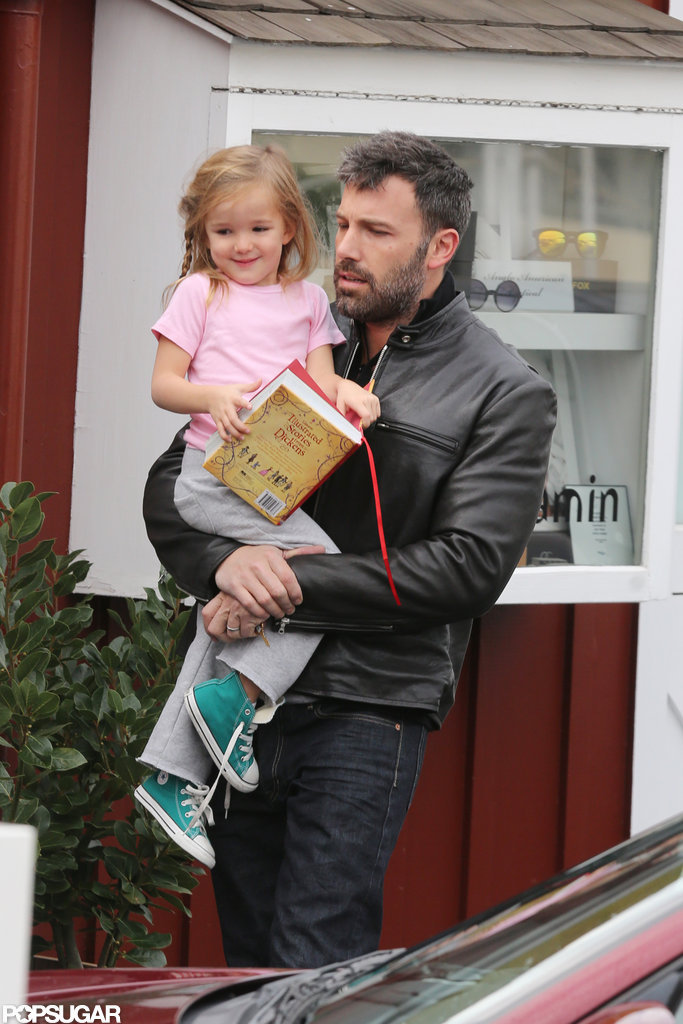 Seraphina Affleck carried a book to breakfast with dad Ben Affleck in LA.