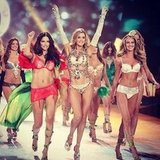 Doutzen Kroes shared a snap of her runway walk with friends.  Source: Instagram user doutzenkroes1