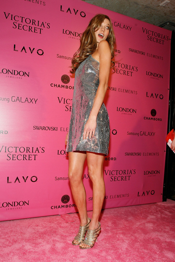 Karlie Kloss was on the pink carpet at the Victoria's Secret Fashion Show after party in NYC.