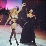 Doutzen Kroes and Rihanna shared the runway.  Source: Instagram user doutzenkroes1