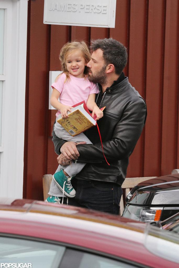 Ben Affleck carried Seraphina Affleck to breakfast in LA.