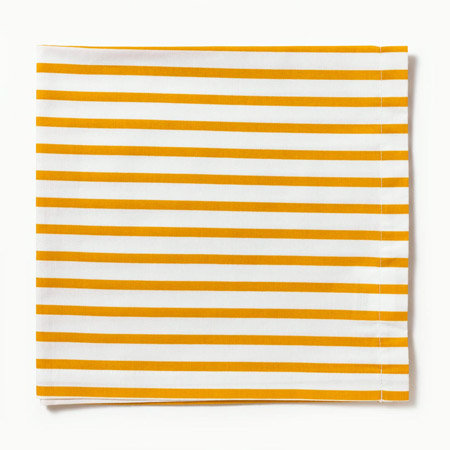 Incorporate sunny stripes to balance the moody plum shades with these Sailor Napkins ($10).