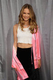 Behati Prinsloo wore a crop top.
