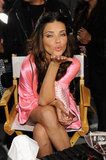 Adriana Lima blew the camera a kiss.