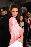 Hilary Rhoda struck a pretty pose.