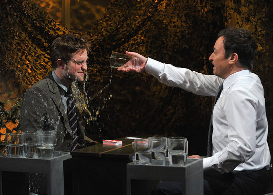 Robert Pattinson Gets Soaked During a Visit With Jimmy Fallon