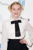 Elle Fanning showed off a cute hairstyle.
