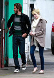 Emma Stone showed off her blond locks while out with Andrew Garfield.