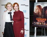 Elle Fanning and Christina Hendricks were all smiles at the screening of their film.