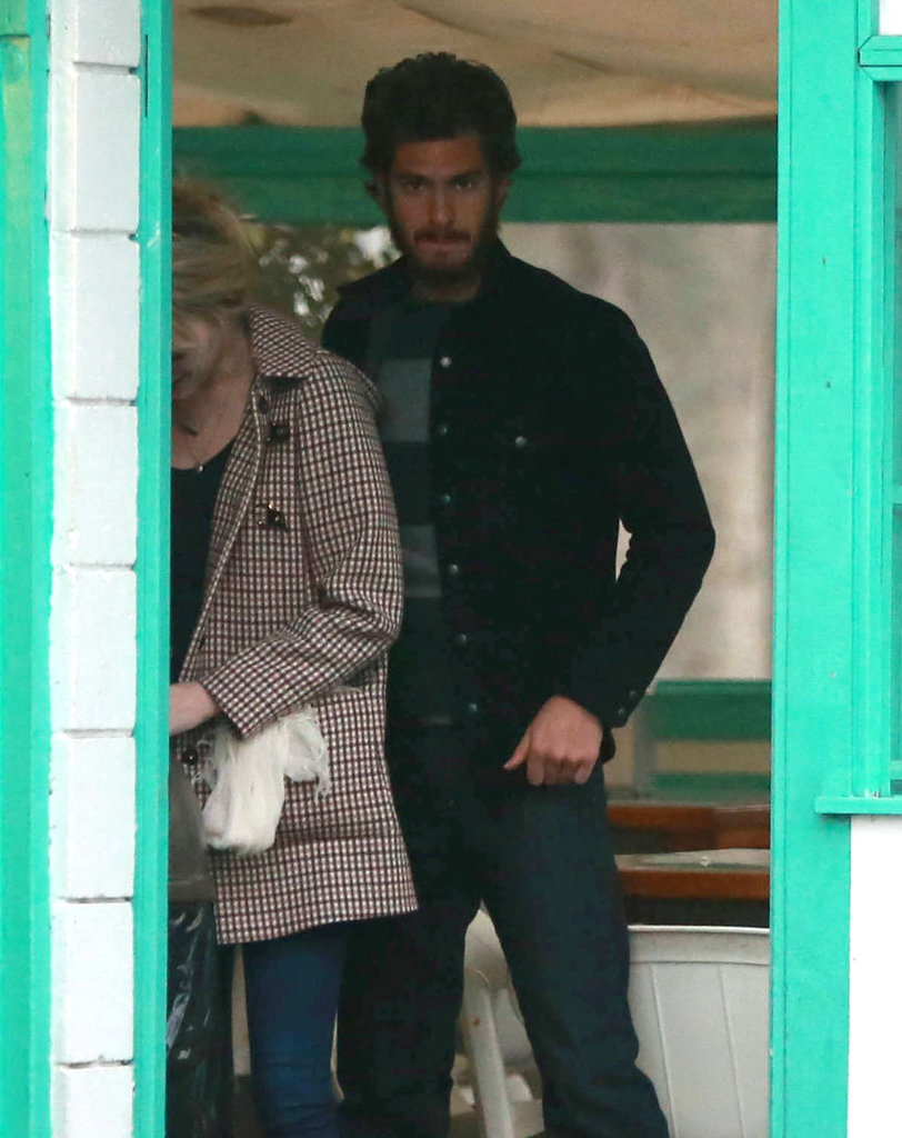 Andrew Garfield had lunch in Santa Barbara.