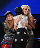 Britney Spears shared a hug with Diamond White.