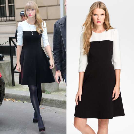 Go for classic colorblocking à la Taylor Swift.