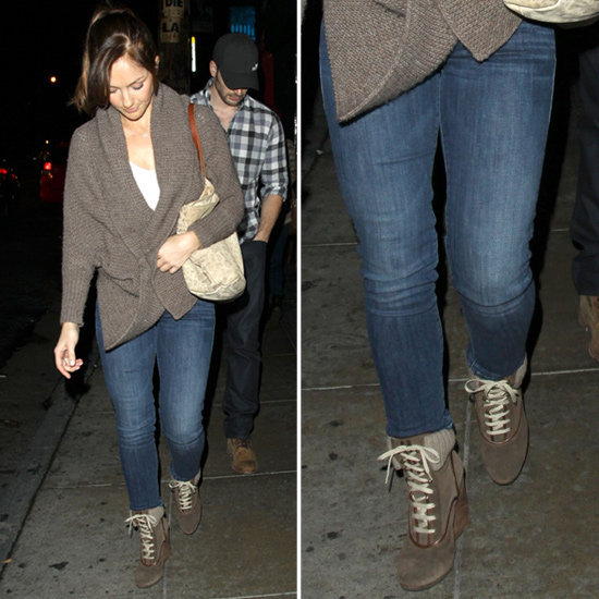 Minka Kelly did Fall casual just right. Get the look for yourself!