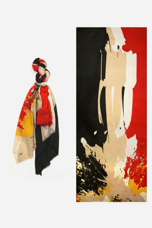 If I had this We Are Owls Lovers in the Afterlife Scarf in Red ($210) I could wear art around my neck. — Annie Scudder, editor
