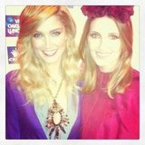 Delta Goodrem and Kate Waterhouse together at the Oaks Day Luncheon. Source: Instagram user katewaterhouse7